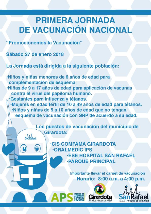 Primera Jornada Nacional de Vacunación